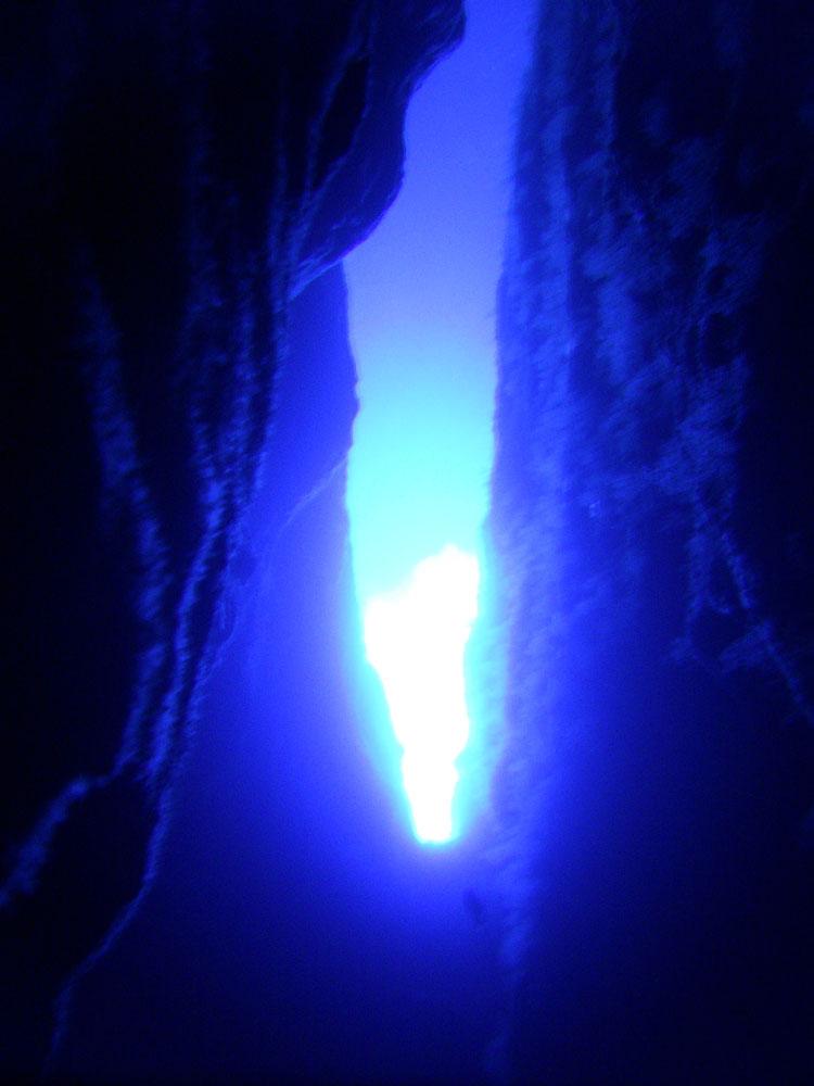 Blick aus der Gudja Cave