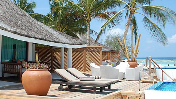 Villa mit Pool, Poolvilla, Ocean Dimensions, Kihaa Maldives, Baa Atoll, Malediven