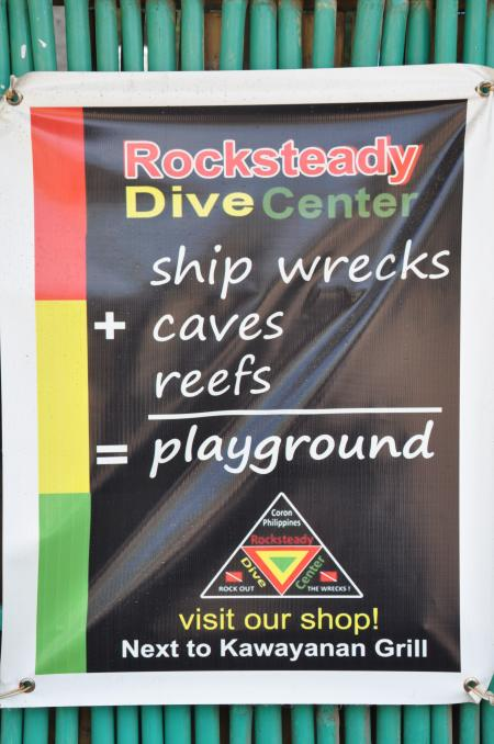 Rocksteady Dive Center,Coron,Palawan,Philippinen