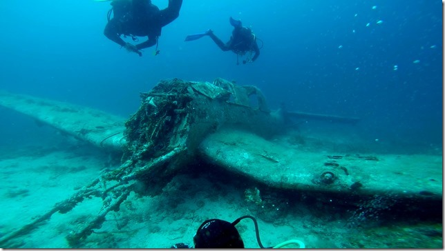 Najada diving, Murter, Kroatien, Flugzeugwrack