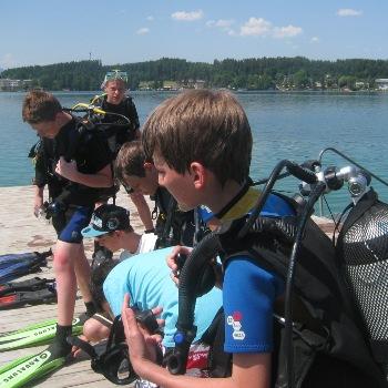 Kindertauchen, Easy Dive, Unterburg/Klopeiner See, Österreich