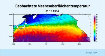 bserved sea surface temperature, © NOAA