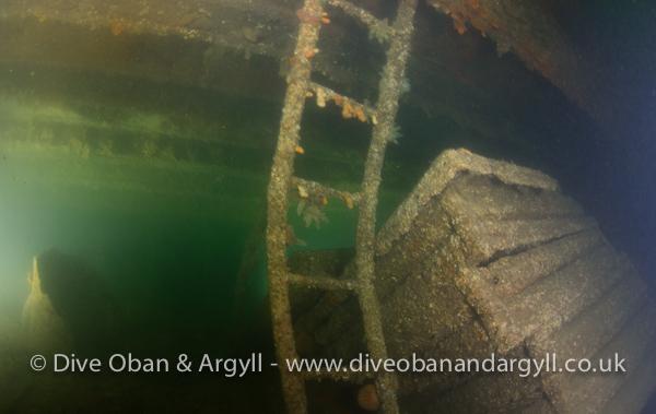 SS Breda Laderäume, Breda, Wracktauchen, Schottland, Basking Shark, Wrack SS Breda, Großbritannien