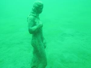 Statue im Klopeiner See, Highlight Klopeiner See, Statue, Fische, super Sicht, Easy Dive, Unterburg/Klopeiner See, Österreich