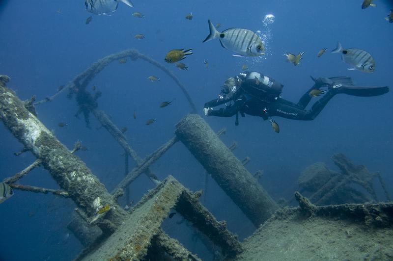 Wrack El Penion Teneriffa, wrack, tauchen, Teneriffa, Aquarius, Aquarius Dive Center, Teneriffa, Spanien, Kanaren (Kanarische Inseln)