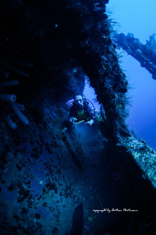 Seitenkorridor St. George Wrack Bayahibe Dominikanische Republik