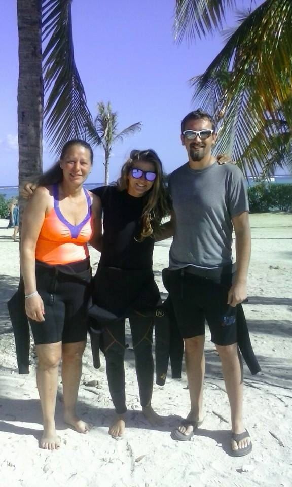 Unsere Taucher mit dem Instrukteur, Scuba Caribe Riu Montego Bay, Jamaika