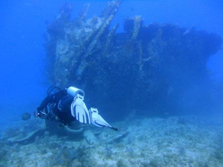 Scuba-Fun,Key Largo,Wrack der Benwood,Florida,USA