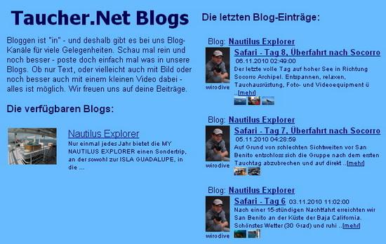 Taucher.Net Blog