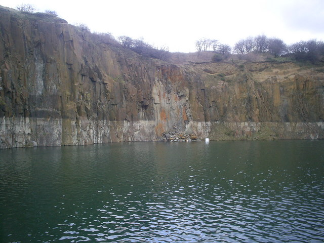 Prestonhill Quarry, Inverkeithing, Prestonhill Quarry, Inverkeithing, Großbritannien, Schottland