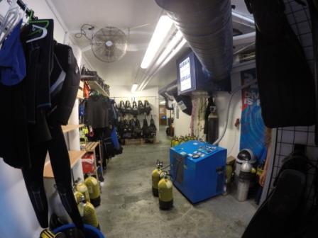 Compressor and gear, Arraia Divers, Angra do Heroismo - Ilha Terceira, Portugal, Azoren