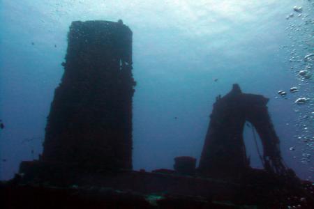 Wrack Stella Maru in Trou aux Biches,Mauritius