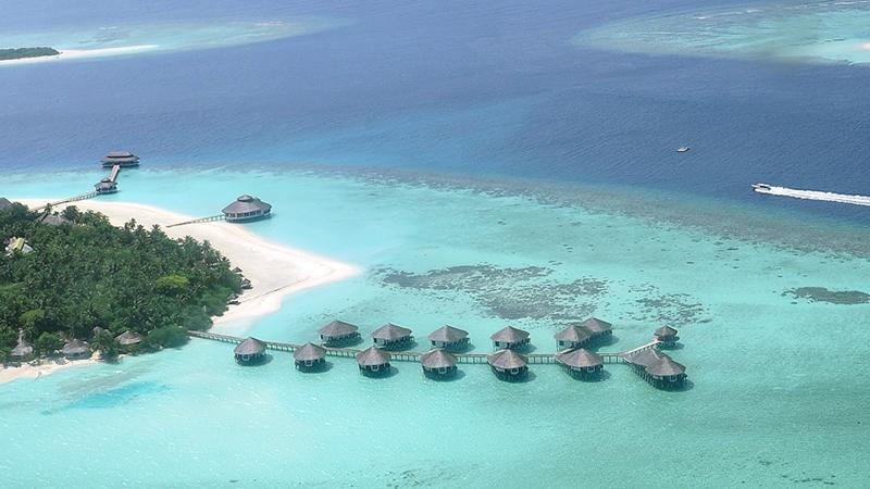 Kihaa Luftaufnahme, Luftaufnahme, Ocean Dimensions, Kihaa Maldives, Baa Atoll, Malediven