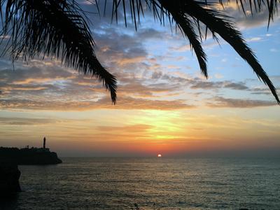 Sonnenaufgang in Porto Colom, East Coast Divers, Porto Colom, Mallorca, Spanien, Balearen