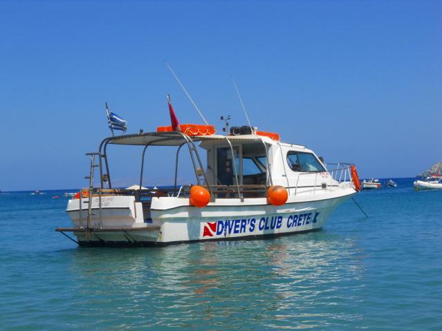 Petros - Iro 10m Long, Dive Boat 1, Divers Club Crete, Agia Pelagia, Kreta, Griechenland