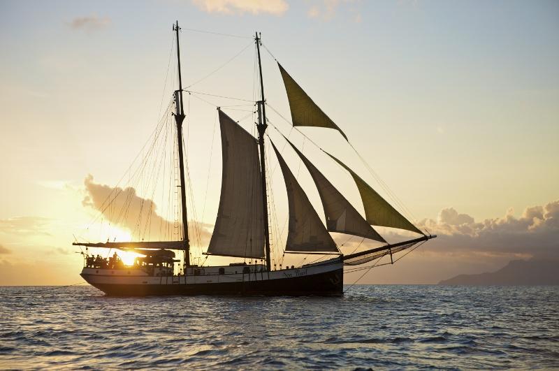 Sea Pearl on sail, Sea Pearl, Seychellen