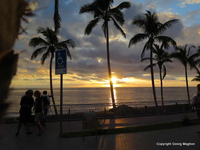Sonnenuntergang, Hausriff Tauchpartner, Puerto Naos, Spanien, Kanarische Inseln
