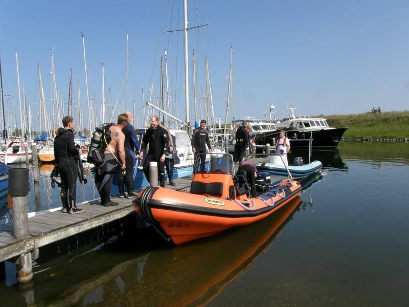 Boot in Brouwershaven, Zeeland, Grevelingen, Oosterschelde, Duikschool Scubaqua, Delft, Niederlande