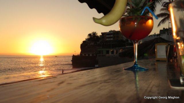 Sundowner am Strand, Hausriff Tauchpartner, Puerto Naos, Spanien, Kanarische Inseln