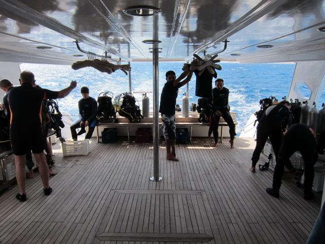 Dive deck, Voodoodivers, Hurghada, Ägypten, Hurghada