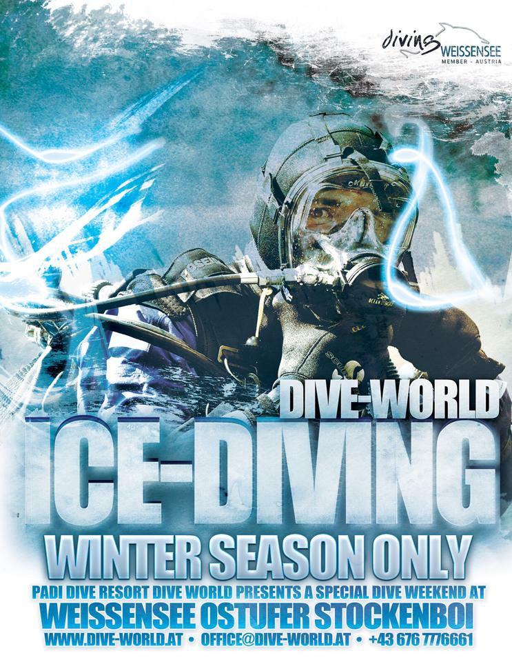 Eistauchen.at, Dive World Diving.de Diving weissensee tauchen Kurse Padi Ssi, Tauchbasis Dive-World, Weissensee-Ost, Österreich