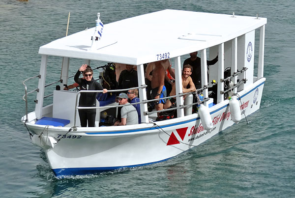 Unser Tauchboot, Tauchboot, Shulamit's Eilat Diving Adventures, Israel