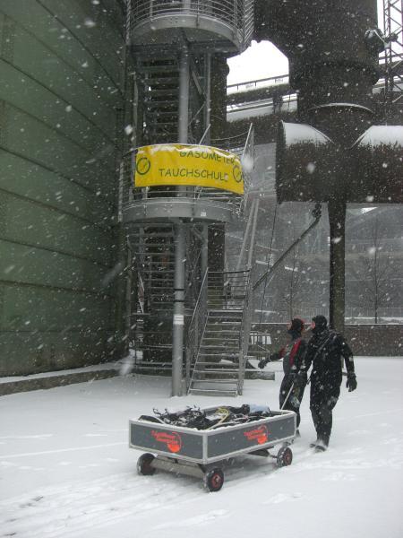 Tauchrevier Gasometer Duisburg,Nordrhein-Westfalen,Deutschland
