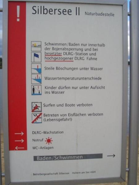Silbersee II in Haltern am See,Nordrhein-Westfalen,Deutschland