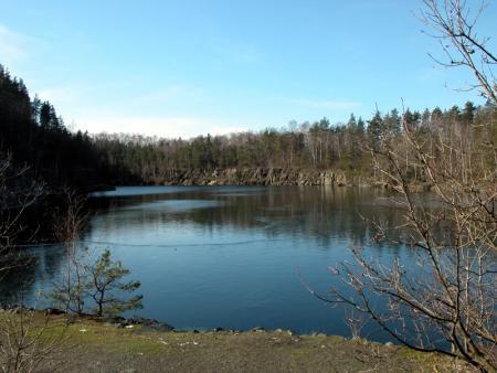 Steinbruchsee ´Vogelberg´ bei Kamenz,Sachsen,Deutschland