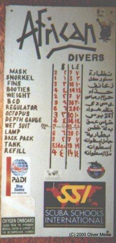 African Divers,Sharm el Sheikh,Sinai-Süd bis Nabq,Ägypten