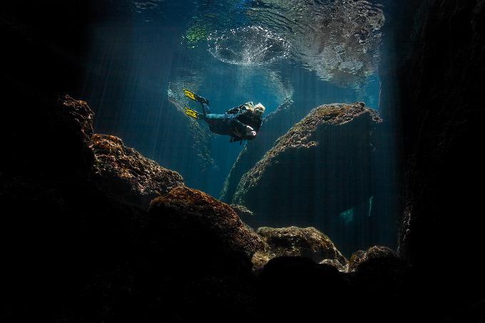 Nero Sport Diving Center, Zakynthos, Griechenland, Taucher, Wasseroberfläche, Spiegelung