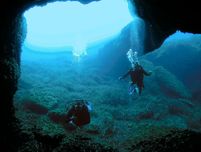 Gaulos Dive Cove, Munxar, Malta, Gozo