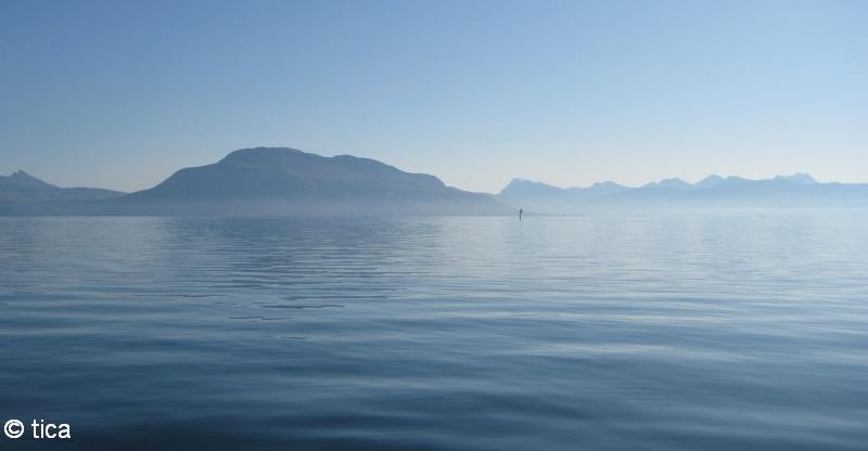 Harstad / Mågøya, Harstad / Mågøya,Norwegen,küste,morgennebel,dunst