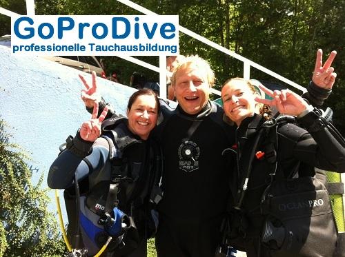 Die Fanta Drei beim OWD, GoProDive, Deutschland, Baden Württemberg