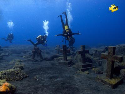 Spielplatz unter Wasser: Die Kreuze von Malpique, Malpique, Kreuze, La Palma, Kanaren, Kanarische Inseln/La Palma/Malpique, Spanien