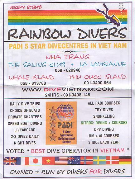 Rainbow Divers,Nha Trang,Vietnam