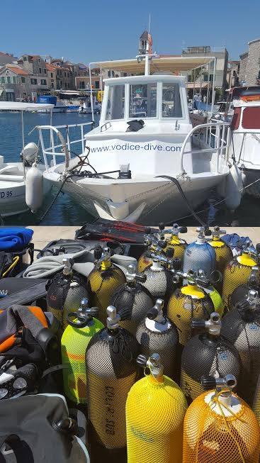 tauchen boat, Vodice Dive, Vodice, Kroatien