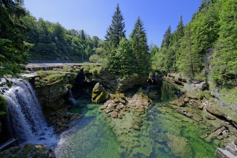 Traunfall im Sommer, Scuben, Atlantis Qualidive, Traunfall, Österreich