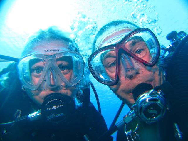 Wir beide , Curacao Divers (Sun Reef Village), Sint Michiel, Niederländische Antillen, Curaçao