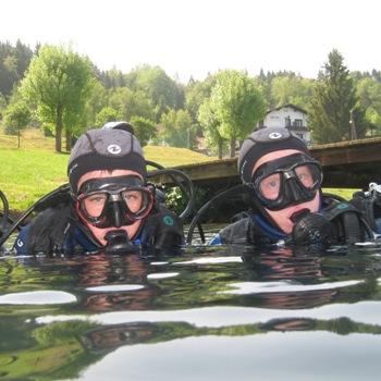 Schnuppertauchen im Klopeiner See, Schnuppertauchen, Tauchkurs, Easy Dive, Unterburg/Klopeiner See, Österreich