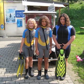 Kindertauchen, Abtauchen mit Kindern, Kindertauchen, Kinder passende Ausrüstung, Easy Dive, Unterburg/Klopeiner See, Österreich