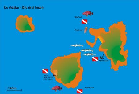 Drei Inseln,Üc Adalar,Türkei