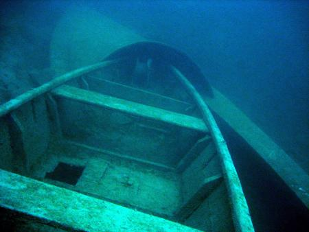 Attersee/Segelbootwrack Dixie,Österreich