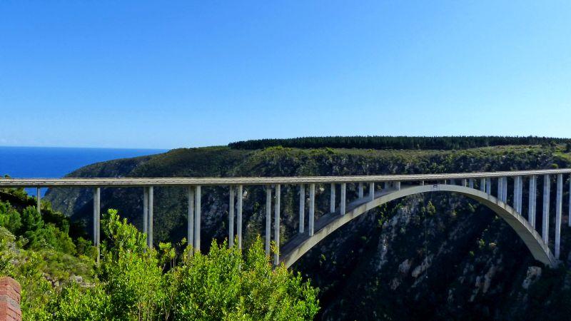 Bloukrans Bridge, höchster Bungeejump von einer Brücke weltweit, Hog Hollow Country Lodge, Südafrika