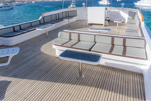 Das neue Top Deck der Seawolf Felo, M/Y Seawolf Felo, Ägypten