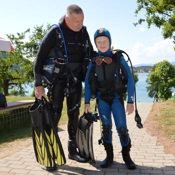 Kindertauchkurs, Ausgebildete Tauchlehrer für Kindertauchkurse, Kinder Ausrüstung, Easy Dive, Unterburg/Klopeiner See, Österreich