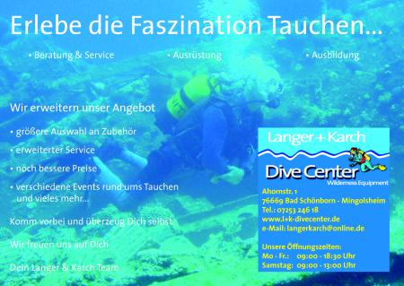 Wilderness Equipment Dive Center,Bad Schönborn,Baden Württemberg,Deutschland