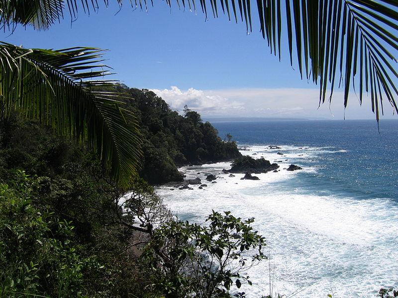 Isla Cano - Küstenblick, Isla Cano, Costa Rica
