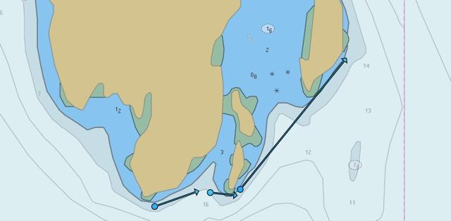 Sea map Dvergsoya S, Dvergsoya S., Kristiansand, Norwegen
