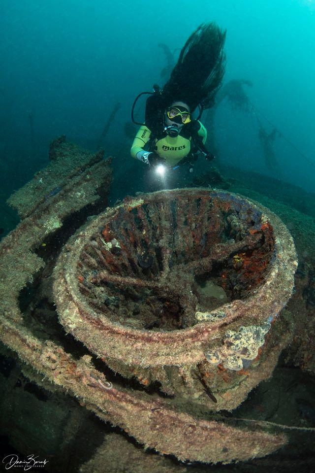 Po Hospital Ship Wreck, Oazi Blu Diving, Vlora, Albania, Diving Albania, Ship-Wreck, Wrack Lazarettschiff ´Po´, Albanien